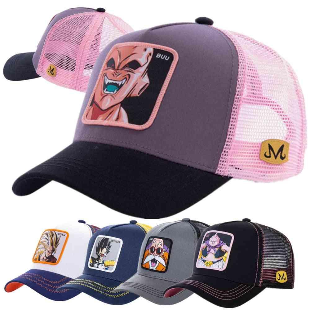 Newest Dragon Ball Hat, All Styles Mesh Cap High Quality Curved Brim Trucker