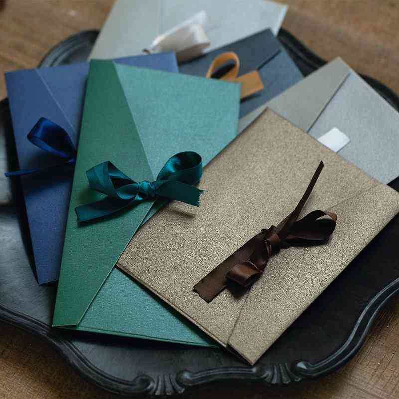 Vintage Pearl Paper, Bow Wallet Envelopes-short/long Style