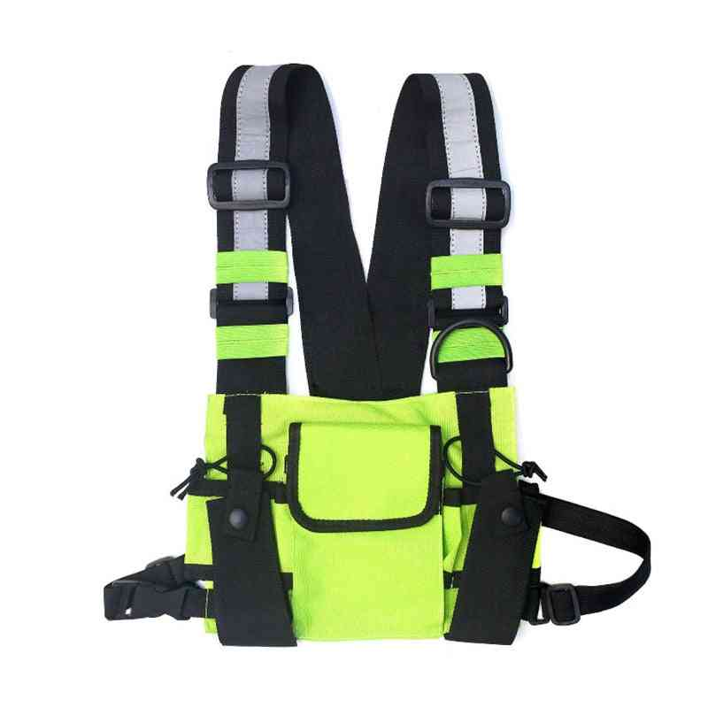 Streetwear Vest Backpack, Waistcoat, Walking - Chest Ring Bag For Man Or Women