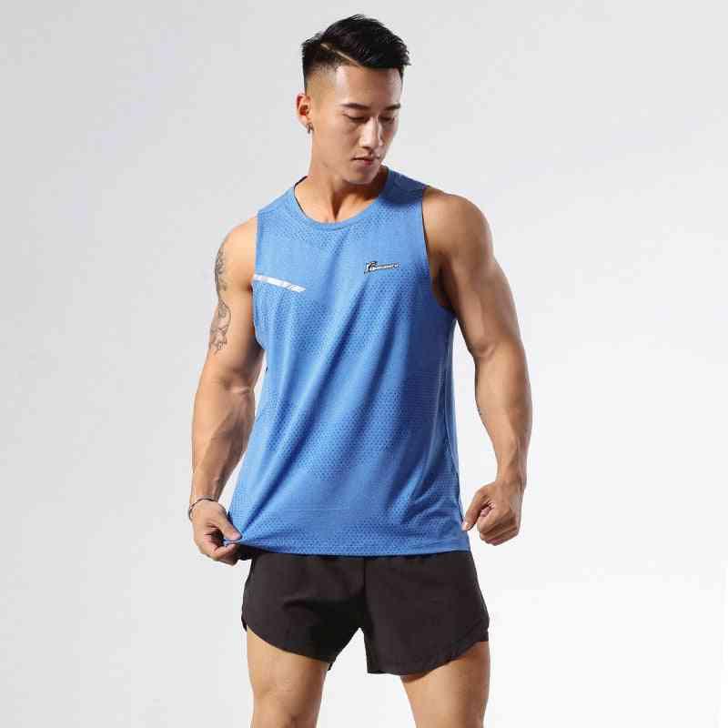 Men Running Vest- Quick Dry Sleeveless Marathon Jogging Shirt