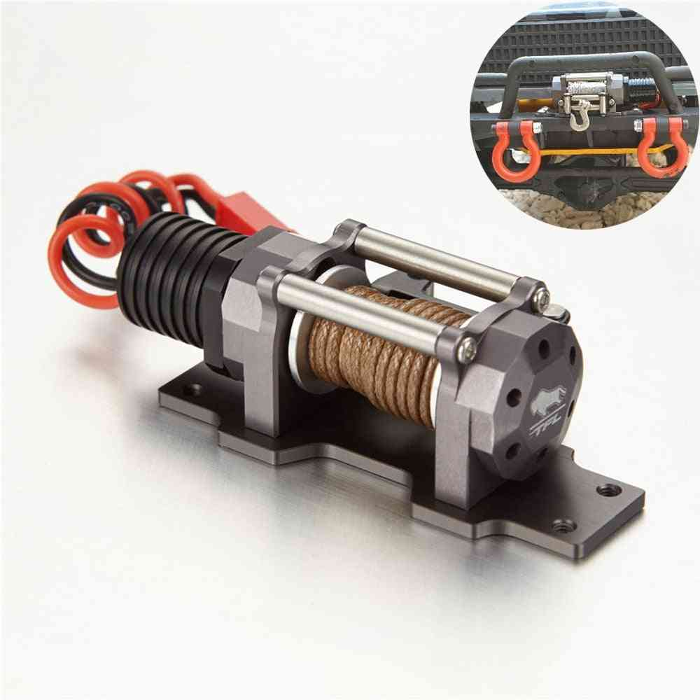 Full Metal Scale Electric Winch With Single Motor For Rc Crawler Truck