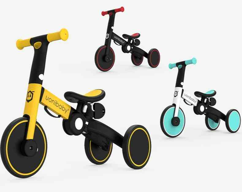 5-in-1 Foldable Balance Bike Tricycle,'s Walker Strollers Portable Bicycle