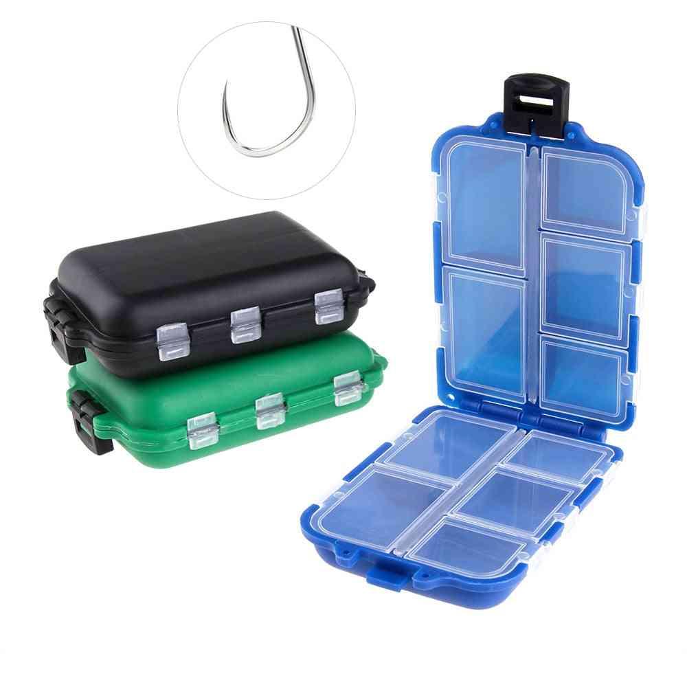 Mini Fishing Tackle Box, Fish Lures Hooks Baits & Plastic Storage Holder, Square Case Pesca Accessories