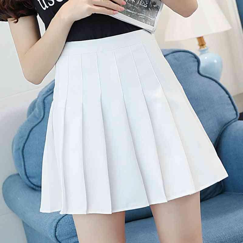 Pleated Tennis Skirt- Cheerleader Uniform With Inner Shorts Underpant