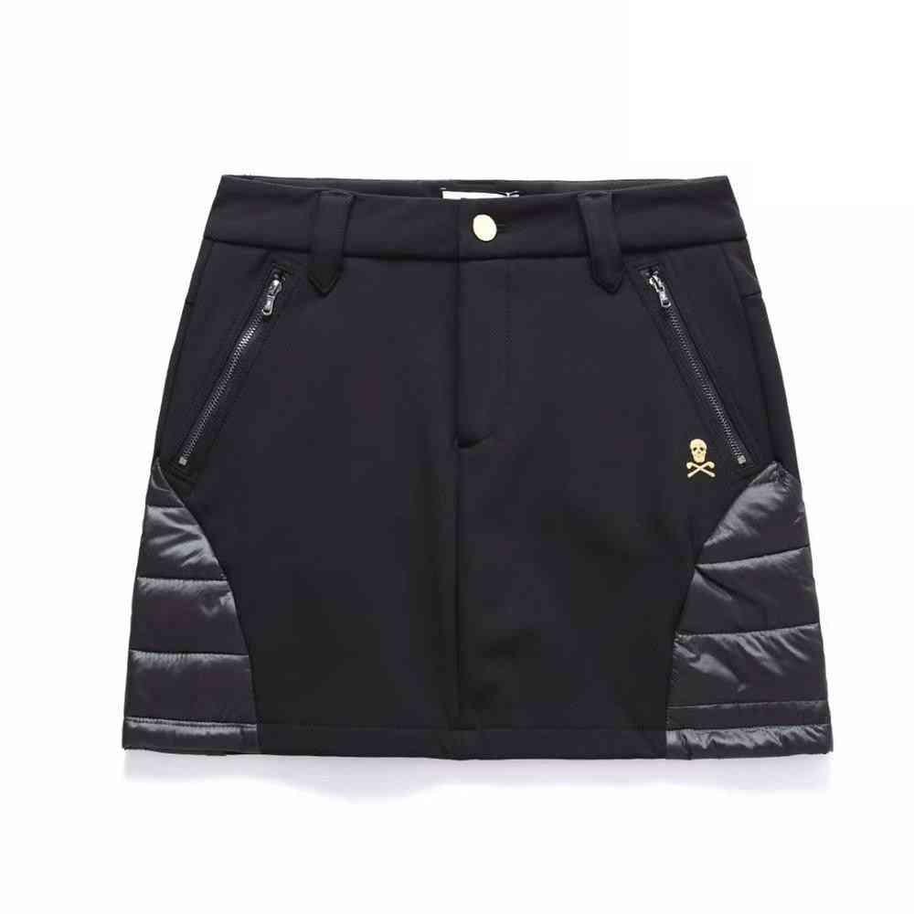 Ladies Golf Clothes- Sports Zipper Short, Lined Skirt