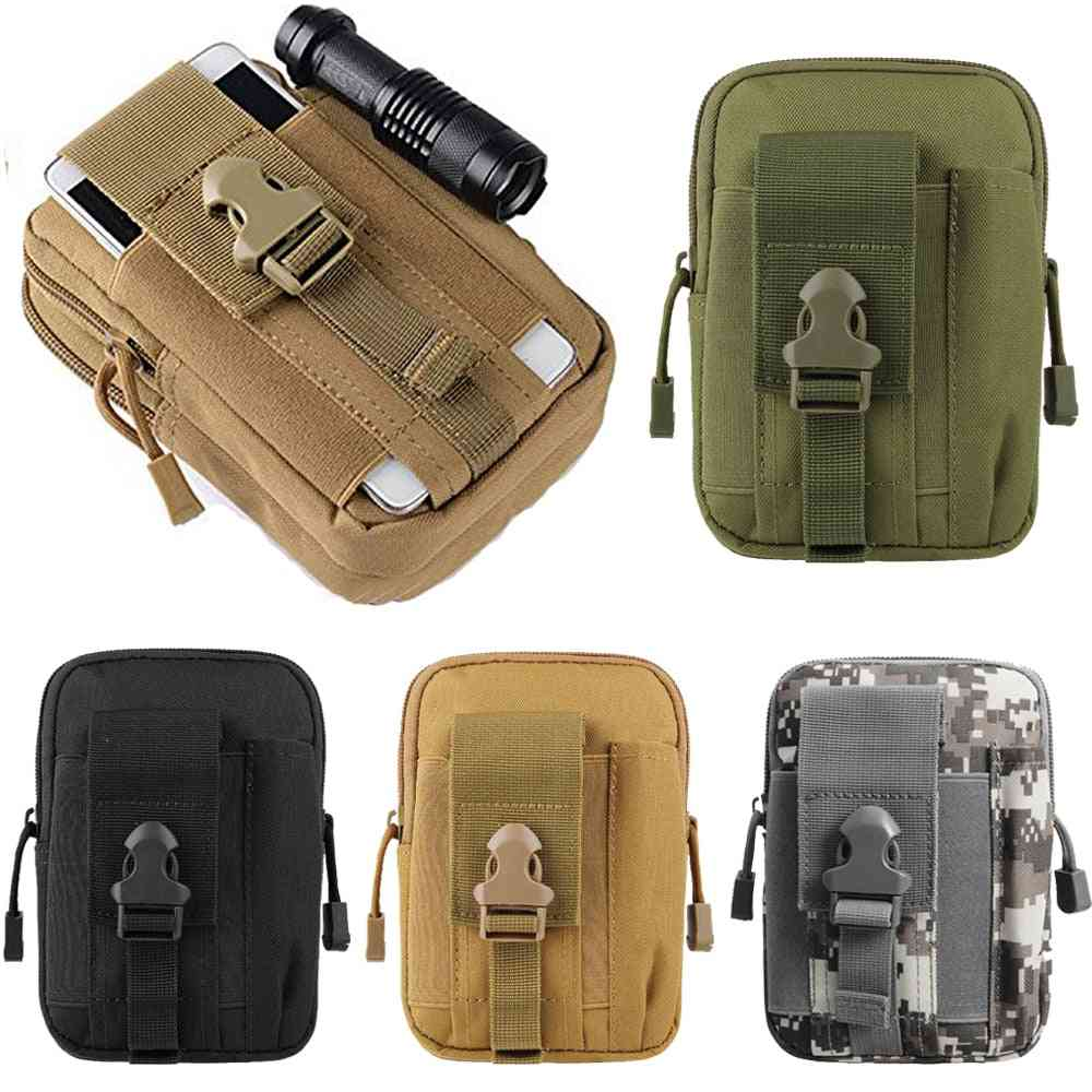 Tactical Universal Holster Military Molle, Bag  Phone Case With Zipper