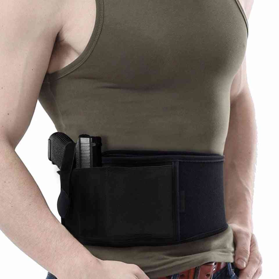 Right/left Hand Tactical Abdominal Band, Belly Pistol Holster