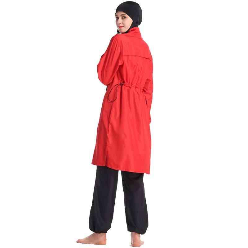 Islamic Swimwear- Stitching Style Conservative Swimsuit