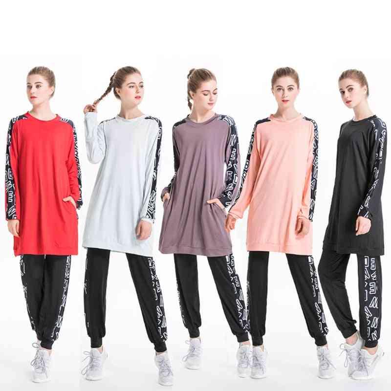 Women Sportwear Floral Muslimah Islamic Swimsuit, Sports Clothing Modest Muslim Swimwear Hijab
