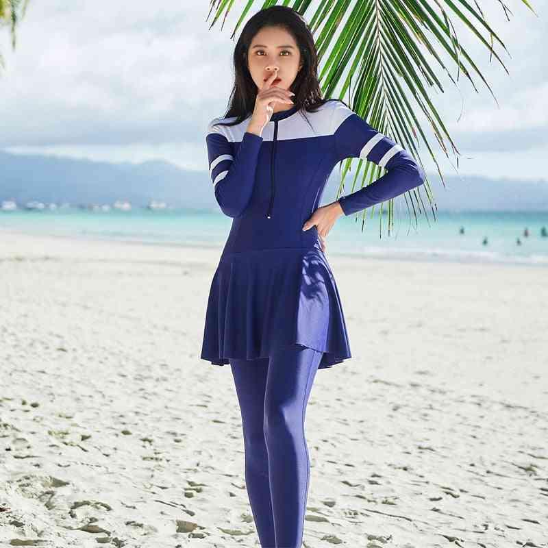Long Sleeve Swimwear-women Bathing Suit