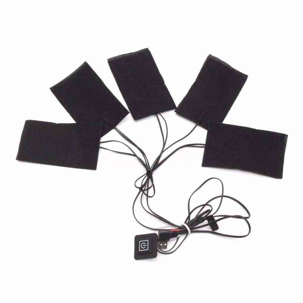 1 Set Of Usb Electric Heated Jacket For Diy Clothing