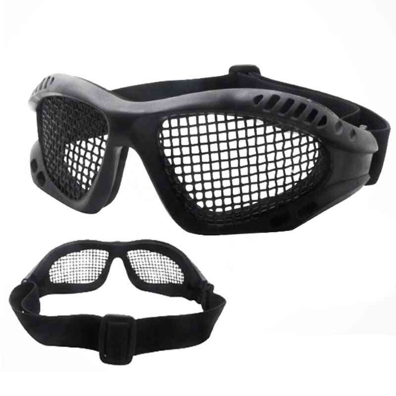 Hunting Tactical Paintball Goggles- Steel Wire Mesh Glasses