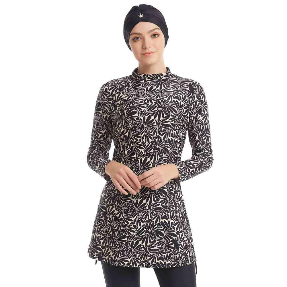 Muslim Women Modest Patchwork , Long Sleeves Burkinis