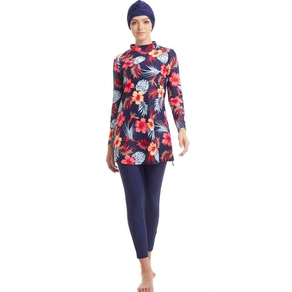 Muslim Swimwear, Women Full Cover Modest Islamic Swimming Suits