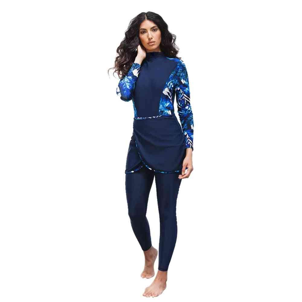Burkinis Islamic Swimsuit, Bikini Full Coverage Hijab Beachwear Swimwear