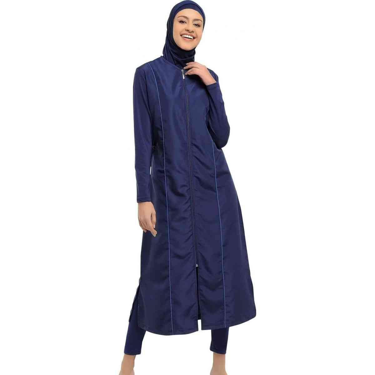 Long Micro Sleeves Burkini Muslim Swimwear Hijab Islamic Swimsuit Fashion Women Full Cover