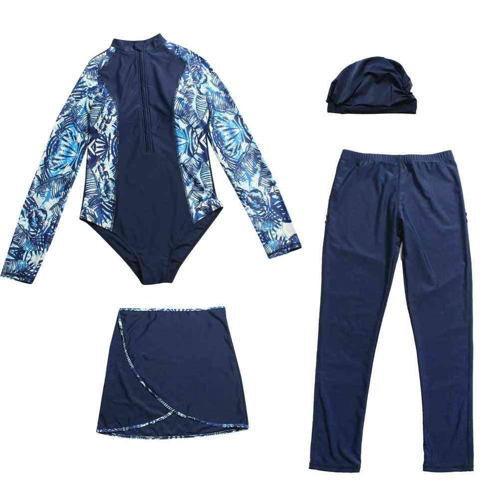 Muslim Swimwear 4 Set Burkini Islamic Swimsuit, Whole Body Cover Up