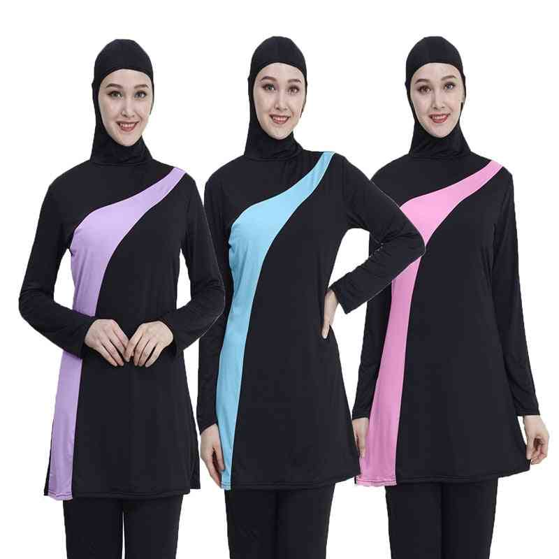 Long Sleeve Muslim Swimsuit, Nylon Burkini- Swimming Maillot