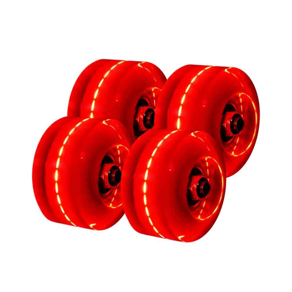 Double-row Skating Roller Skates, Transparent, Universal Lighting Wheels