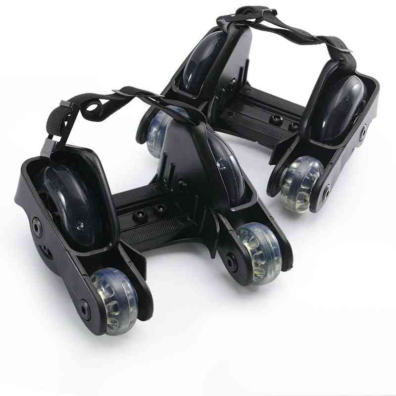 Flashing Roller Skate Shoes With 4-wheels Pulley Lighted