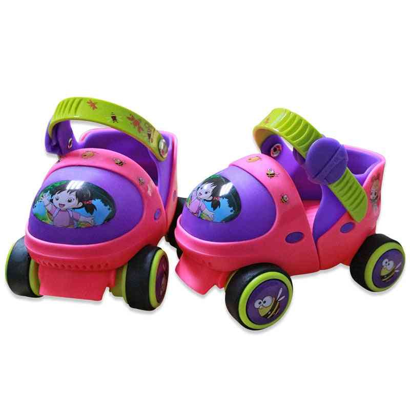 Double-row, 4-wheels Skating Shoes