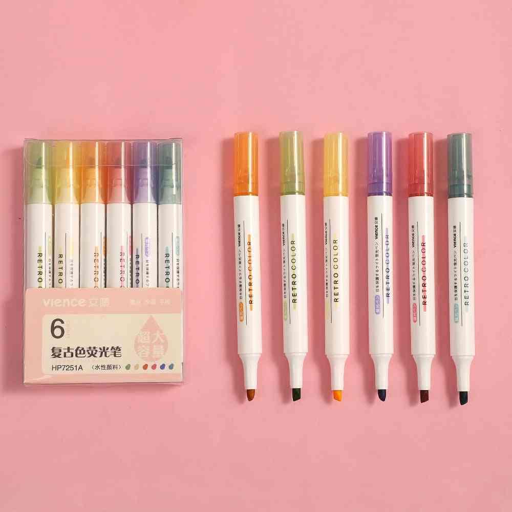 Morandi Fluorescent Pen, Cute Creativity, Highlighter For Journal