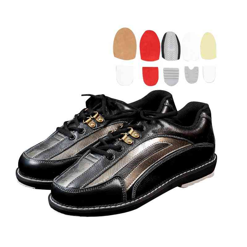 Men's Bowling Shoes With Changable Skidproof Sole