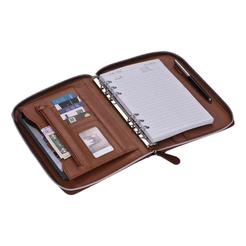 Professional Document Storage-zippered Portfolio Holder With Card Slot