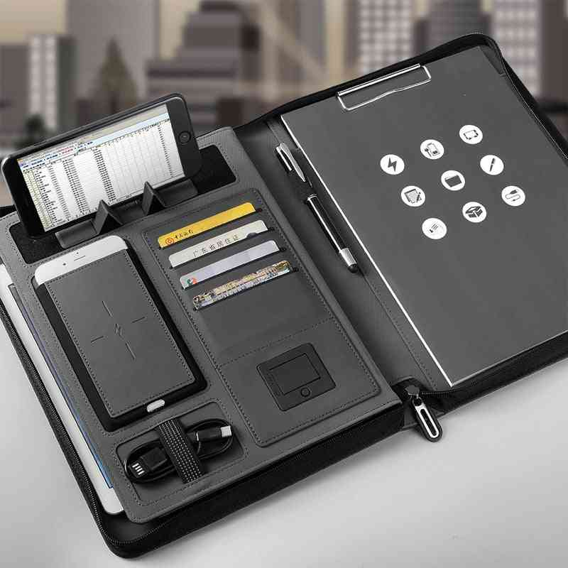 A4 Size File Folder With Wireless Power Charger