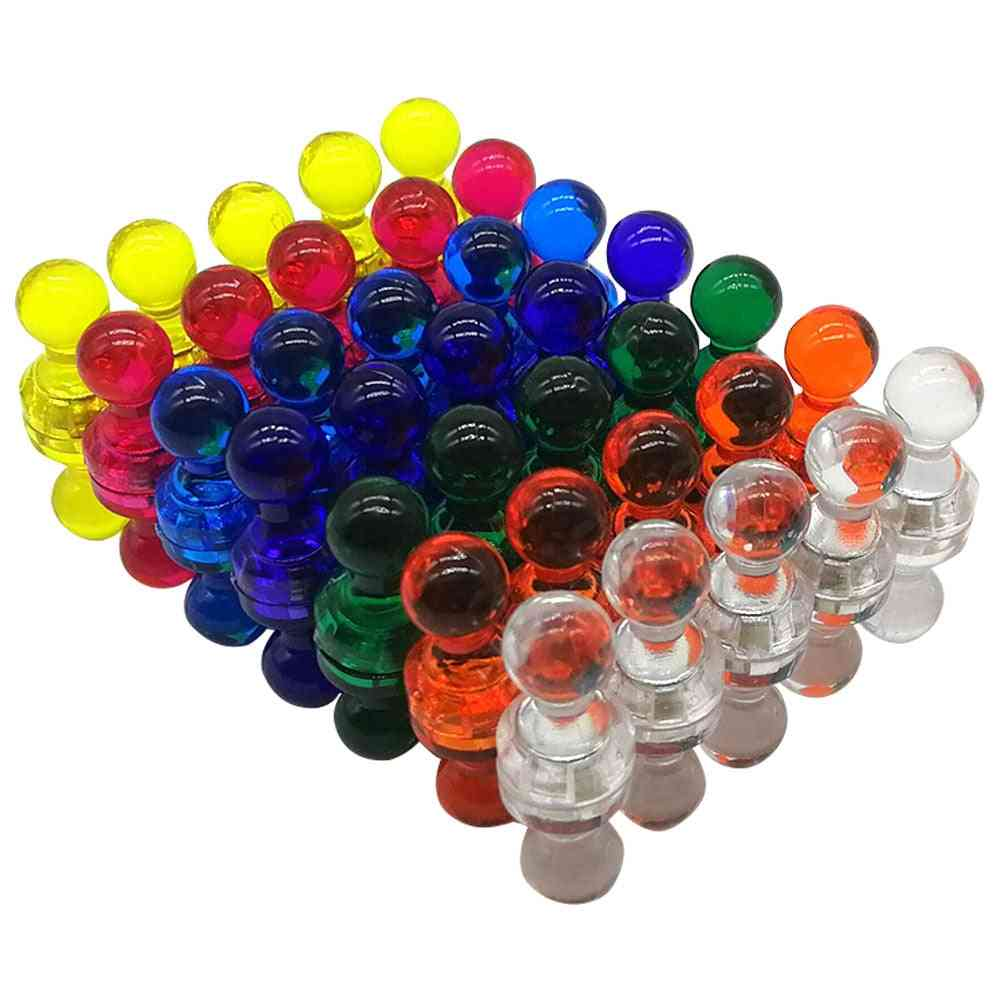 Portable And Transparent Acrylic Push Pin Magnet
