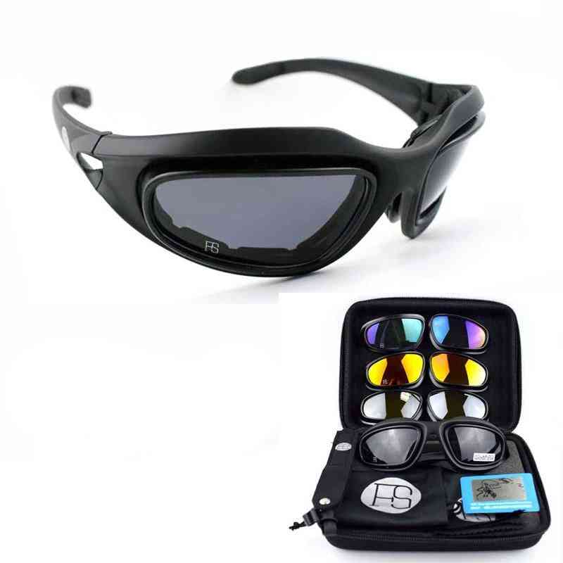 Outdoor Sport Polarized Sunglasses For Hiking/climbing Glasses With 4 Lens