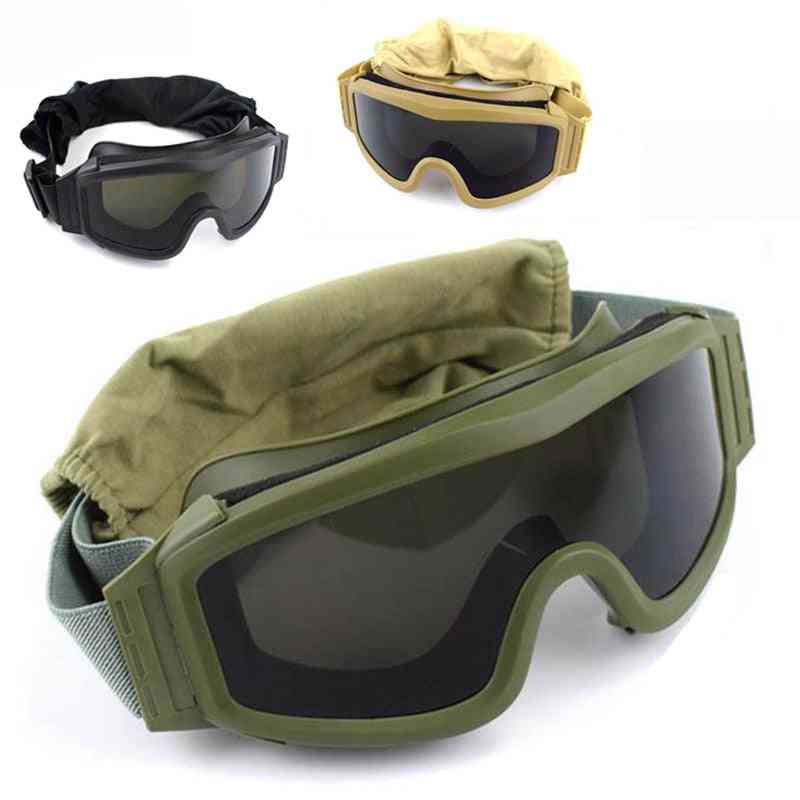 Tactical Military Shooting Sunglasses With 3 Lens