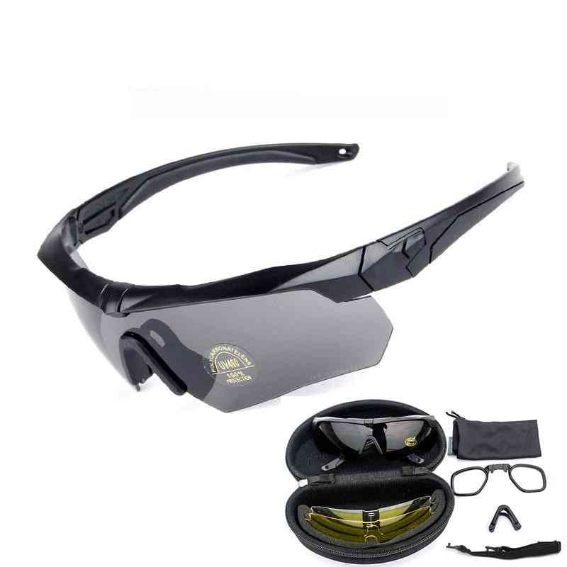 Polarized Tactical Goggles With Myopia Frame -3 Lens