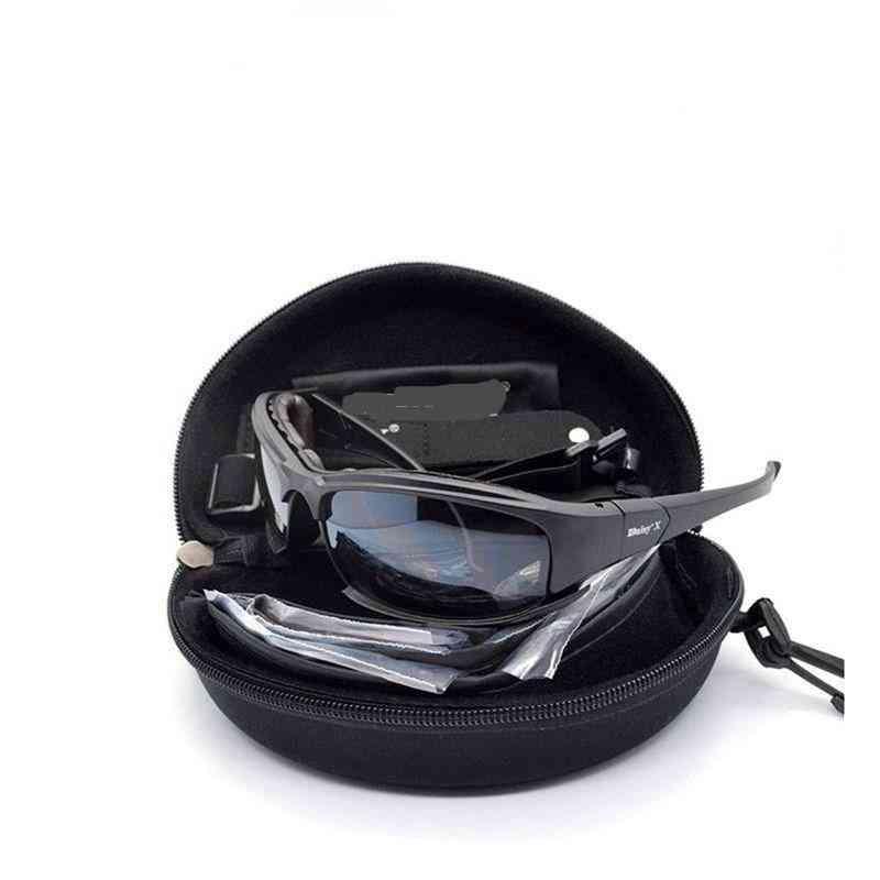 Tactical Men's Polarized Glasses -military Hunting Goggles 4 Lens Kit