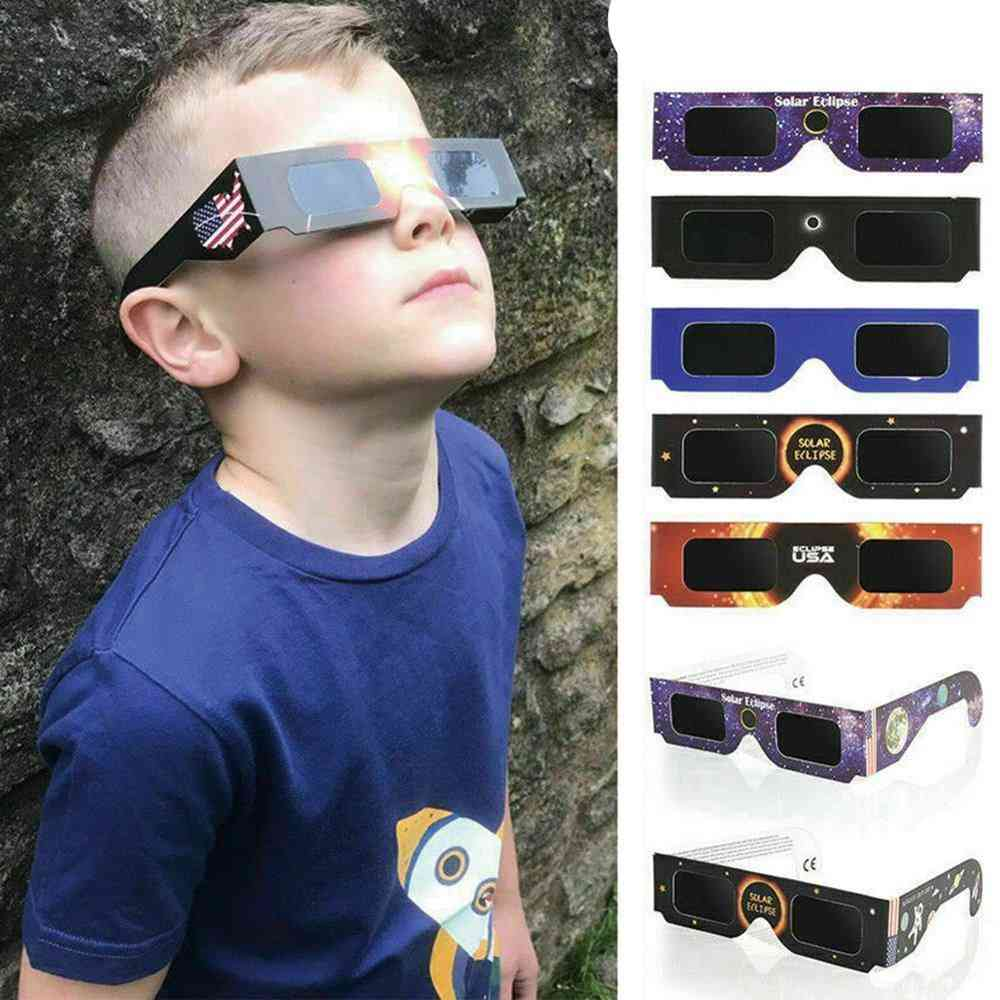 Solar Eclipse Glasses, Paper Framed Uv Protection Goggles
