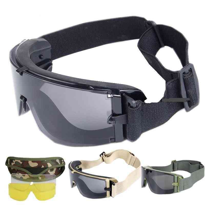 Army Tactical, Airsoft Paintball Shooting Glasses- Uv Protection