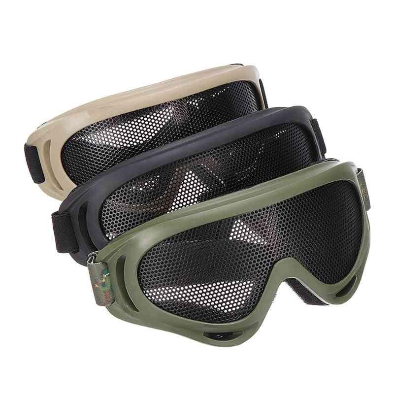 Outdoor Eye Protective, Comfortable Tactical Metal Mesh Glasses