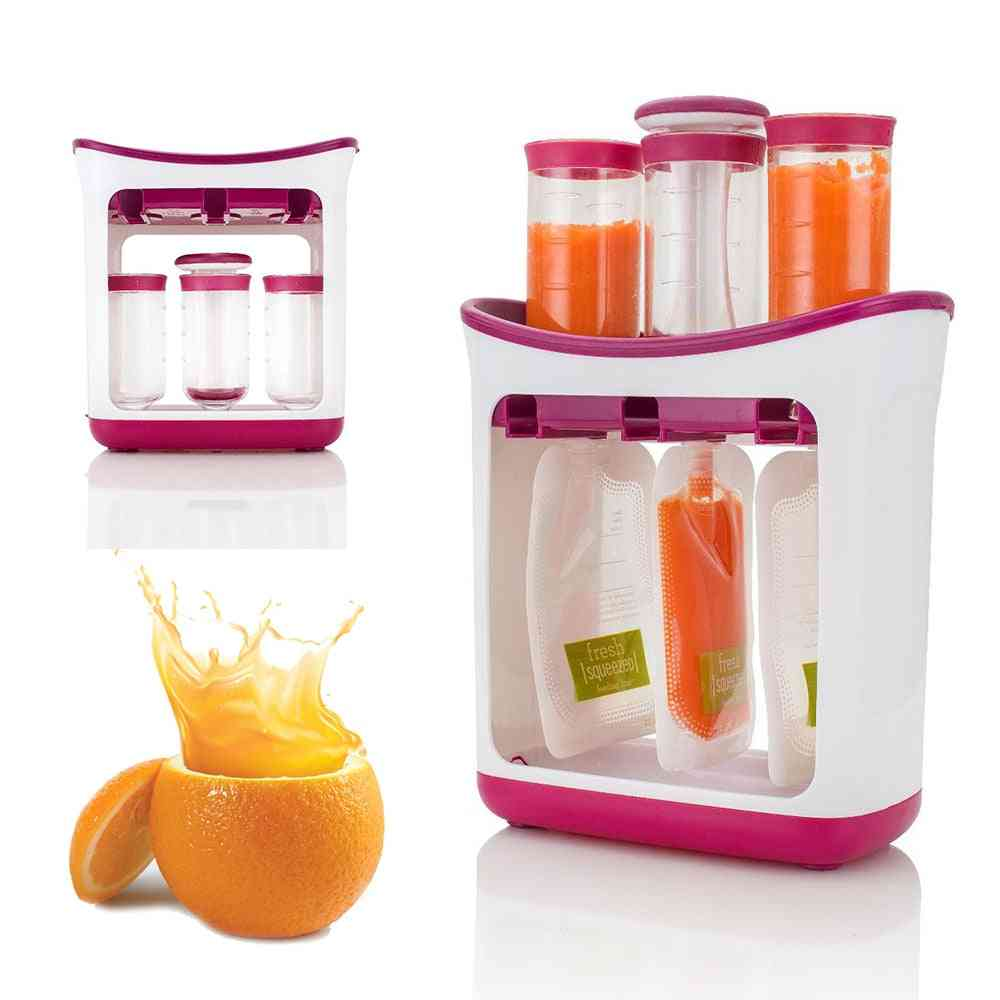 Baby Food Squeeze Machine With Storage Pouches