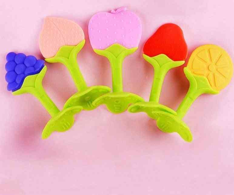 Cute Fruit Design, Silicon Gum's Growth And Exercises Teether Toy For Babies