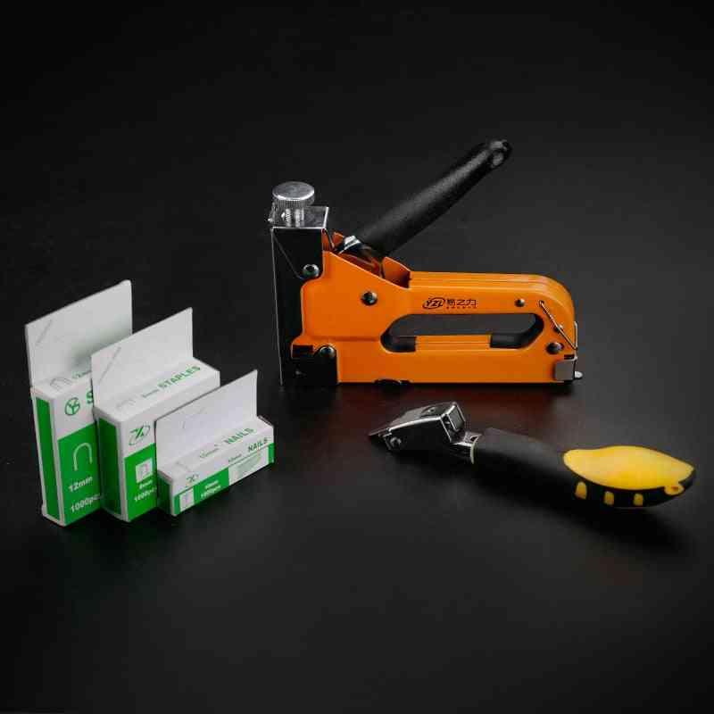 3-way Manual,  Hand Nail Staple Gun For Wood Furniture