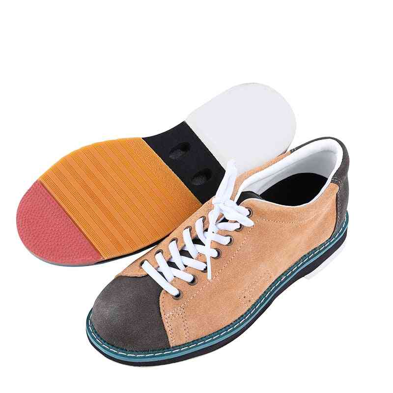 Non-slip Wear Resistant Indoor Professional Bowling Shoes, Men And Women Leather Sports Comfortable Sneaker