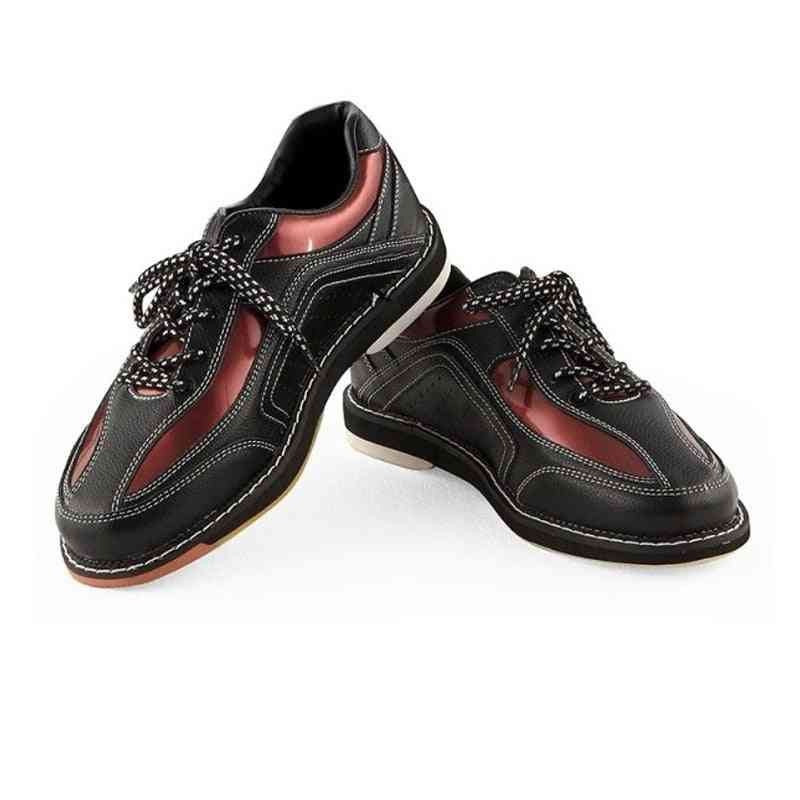 Professional Bowling Shoes Men Soft Leather Cushioning Sneakers Women Lightweight  Non-slip Trail