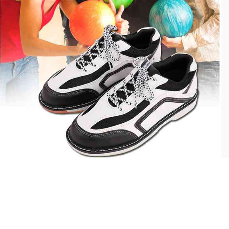 Non-slip Wear Resistant Indoor Professional Bowling Shoes, Classic Men And Women Leather Sports