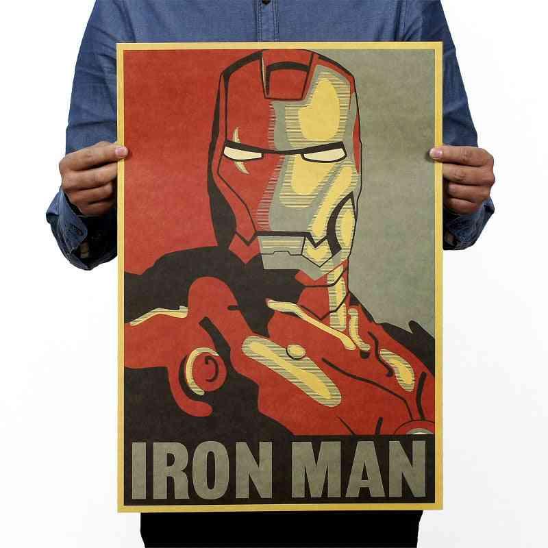 Iron-man Vintage Kraft Paper Movie, Poster Magazine For Decoration
