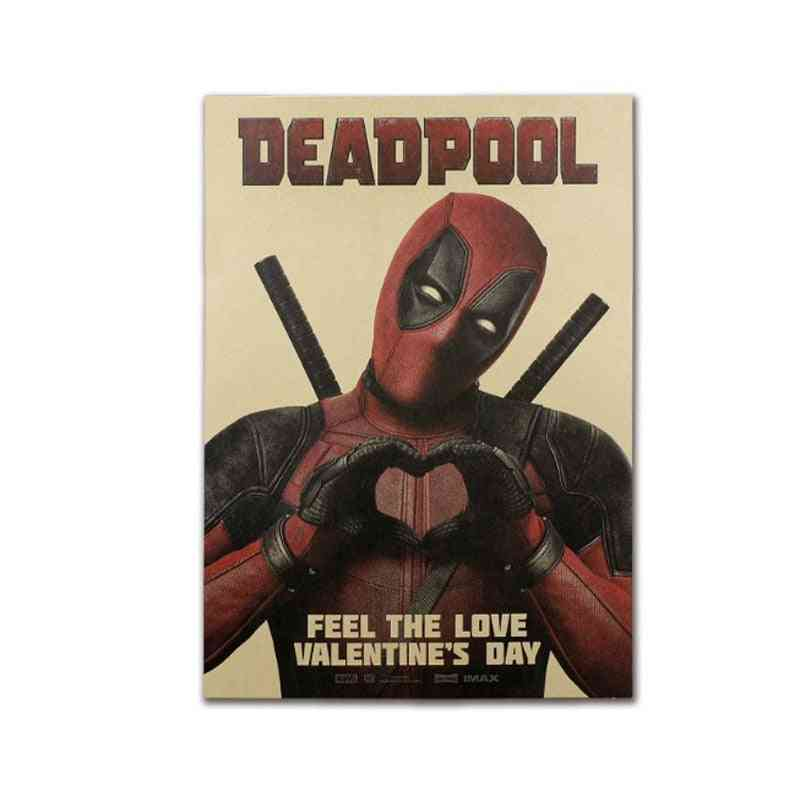 Deadpool Decor Vintage Kraft Paper Movie Poster For Wall Decoration