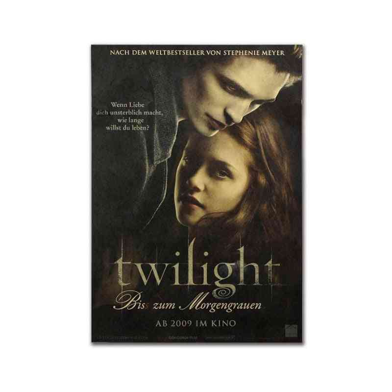 Twilight Decor Vintage Kraft-paper, Movie-poster