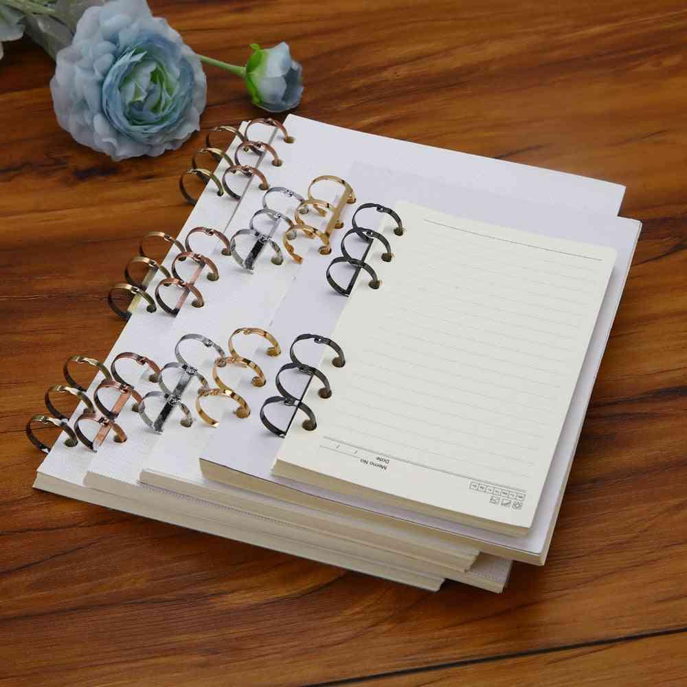 Three-ring Metal Binding Clip