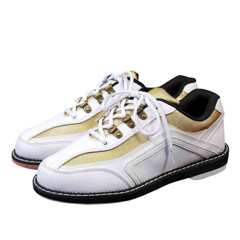 Professional Bowling Shoes, High Quality Mens & Womens Leather Non-slip Wear Resistant Sneakers
