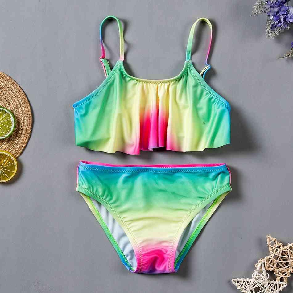 Girls Swimwear Two Pieces Swimsuit Bikini Sets