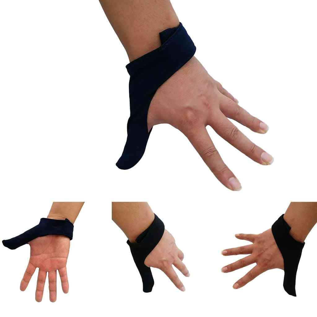 2pcs Breathable Elastic Right/left Hand Finger Grip Thumb Stabilizer Saver Protection Glove